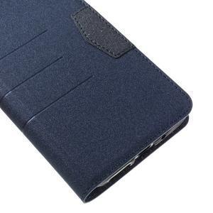 Klopové peneženkové pouzdro na LG G5 - tmavěmodré - 7