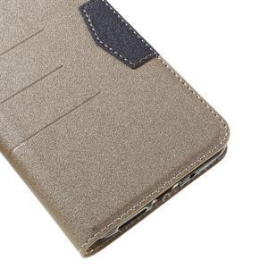 Klopové peneženkové pouzdro na LG G5 - zlaté - 7