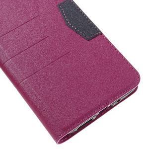 Klopové peneženko pouzdro na LG G5 - rose - 7