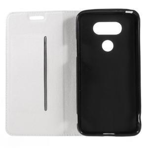 Klopové peneženkové pouzdro na LG G5 - bílé - 7