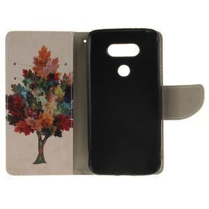 Obrázkové koženkové pouzdro na LG G5 - barevný strom - 7