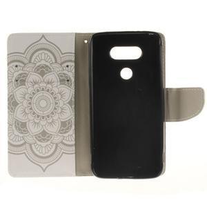 Obrázkové koženkové pouzdro na LG G5 - mandala - 7