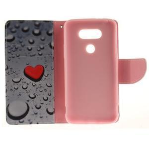 Obrázkové koženkové pouzdro na LG G5 - srdce - 7