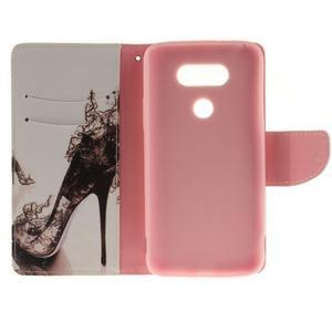 Obrázkové koženkové pouzdro na LG G5 - pekelný střevíc - 7