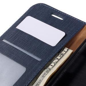 Cloth koženkové peněženkové pouzdro na LG G5 - tmavěmodré - 7