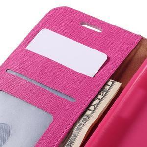 Cloth koženkové peněženkové pouzdro na LG G5 - rose - 7