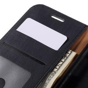 Cloth koženkové peněženkové pouzdro na LG G5 - černé - 7