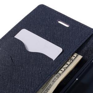 Goos stylové PU kožené pouzdro na LG G5 - fialové - 7