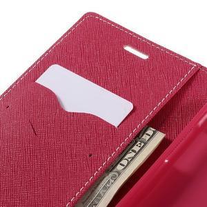 Goos stylové PU kožené pouzdro na LG G5 - růžové - 7