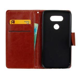 Lees peněženkové pouzdro na LG G5 - hnědé - 7