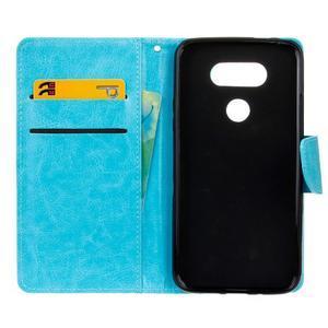 Lees peněženkové pouzdro na LG G5 - modré - 7