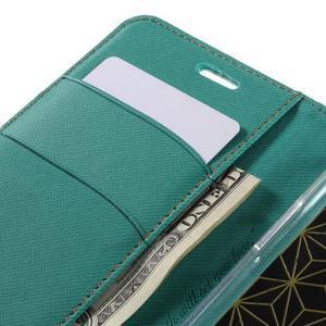Diary PU kožené pouzdro na mobil LG G5 - zelené - 7