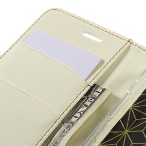 Diary PU kožené pouzdro na mobil LG G5 - bílé - 7