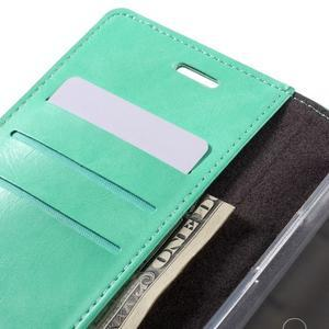 Luxury PU kožené pouzdro na mobil LG G5 - cyan - 7
