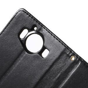 Buttefly PU kožené pouzdro na Microsoft Lumia 950 - černé - 7