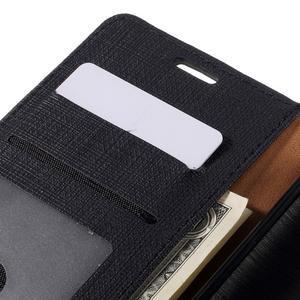 Cloth peněženkové pouzdro na mobil Microsoft Lumia 950 - černé - 7