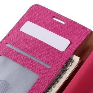 Cloth peněženkové pouzdro na mobil Microsoft Lumia 950 - rose - 7