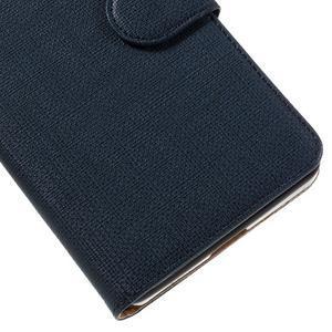 Cloth peněženkové pouzdro na mobil Microsoft Lumia 950 - tmavěmodré - 7