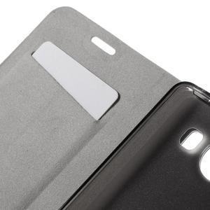 Horse PU kožené pouzdro na mobil Microsoft Lumia 950 - modré - 7