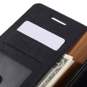 Cloth PU kožené pouzdro na mobil Microsoft Lumia 950 XL - černé - 7