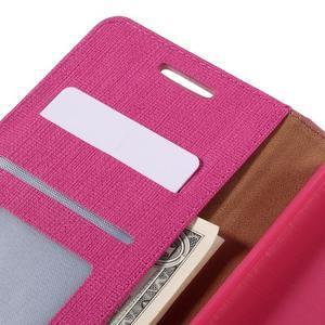 Cloth PU kožené pouzdro na mobil Microsoft Lumia 950 XL - rose - 7