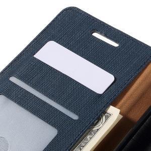 Cloth PU kožené pouzdro na mobil Microsoft Lumia 950 XL - tmavěmodré - 7