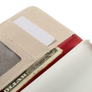 Folio PU kožené pouzdro na mobil HTC Desire 510 - bílé - 7