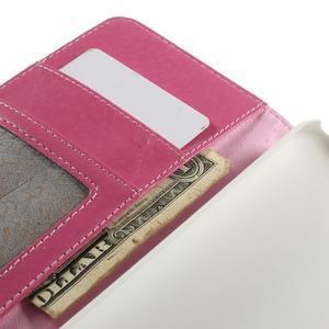 Folio PU kožené pouzdro na mobil HTC Desire 510 - rose - 7