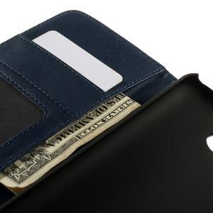 Folio PU kožené pouzdro na mobil HTC Desire 510 - tmavěmodré - 7