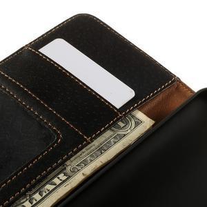 Folio PU kožené pouzdro na mobil HTC Desire 510 - černé - 7