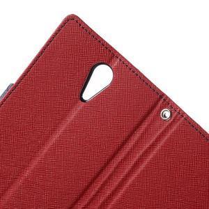 Diary PU kožené pouzdro na mobil HTC Desire 620 - červené - 7