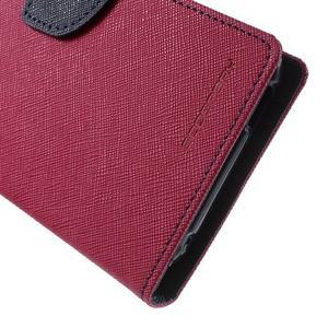 Diary PU kožené pouzdro na mobil HTC Desire 620 - rose - 7