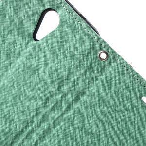Diary PU kožené pouzdro na mobil HTC Desire 620 - cyan - 7