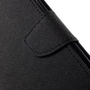 Diary PU kožené pouzdro na mobil HTC Desire 620 - černé - 7