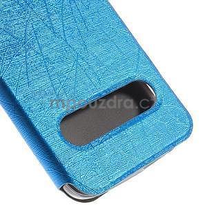 Klopové pouzdro s okýnky na Huawei Ascend G7 - modré - 7