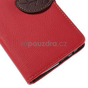 Červené peněženkové pouzdro na Huawei Ascend G7 - 7
