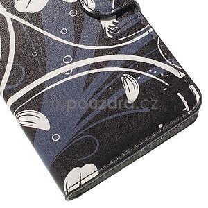 Zapínací peněženkové pouzdro Huawei Y635 -  bílá květina - 7