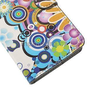Zapínací peněženkové pouzdro Huawei Y635 - barevné květiny - 7