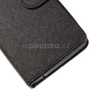 PU kožené černé pouzdro se zapínáním Huawei Y635 - 7