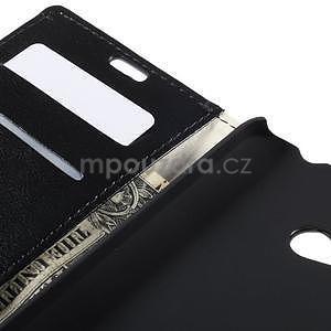 Peněženkové PU kožené pouzdro na Microsoft Lumia 640 - černé - 7