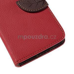 PU kožené pouzdro se zapínáním na Nokia Lumia 730/735 - červené - 7