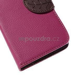 PU kožené pouzdro se zapínáním na Nokia Lumia 730/735 - rose - 7