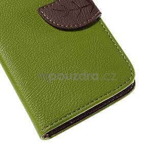 PU kožené pouzdro se zapínáním na Nokia Lumia 730/735 - zelené - 7