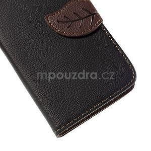 PU kožené pouzdro se zapínáním na Nokia Lumia 730/735 - černé - 7