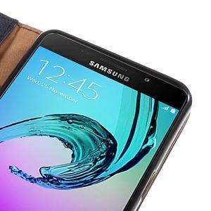 Cloth peněženkové pouzdro na Samsung Galaxy A5 (2016) - černé - 7