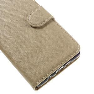 Cloth peněženkové pouzdro na Samsung Galaxy A5 (2016) - champagne - 7