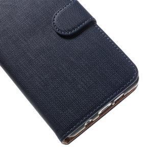Cloth peněženkové pouzdro na Samsung Galaxy A5 (2016) - tmavěmodré - 7