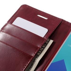 Luxusní PU kožené pouzdro na mobil Samsung Galaxy A5 (2016) - vínové - 7