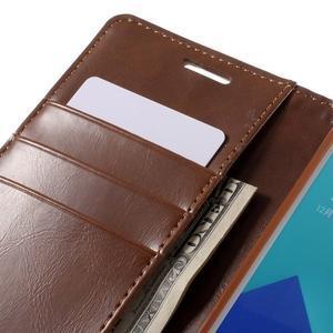 Luxusní PU kožené pouzdro na mobil Samsung Galaxy A5 (2016) - hnědé - 7