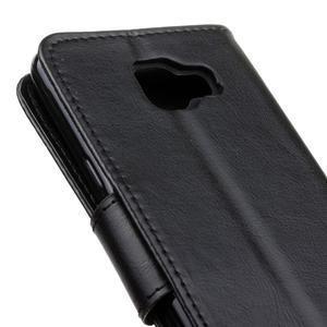 PU kožené pouzdro na mobil Samsung Galaxy A5 (2016) - černé - 7